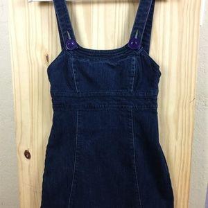 Vintage DKNY Denim Overall Skirt  Sz XS